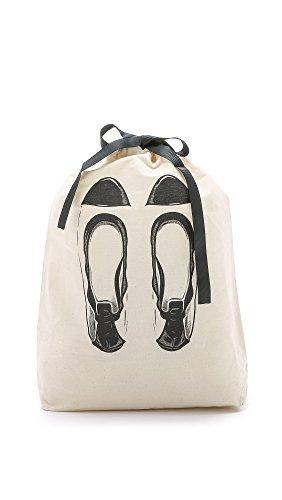 Bag-all Womens Ballet Flats Organizing Bag, Natural/Black, One Size