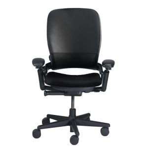 Steelcase Leap V1 High Back Leather Office Desk Chair  Black