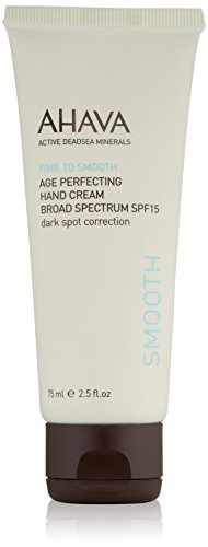 AHAVA Dead Sea Age Perfecting Mineral Hand Cream, Time to Smooth, Broad Spectrum SF 15 - 2.5 Fl Oz
