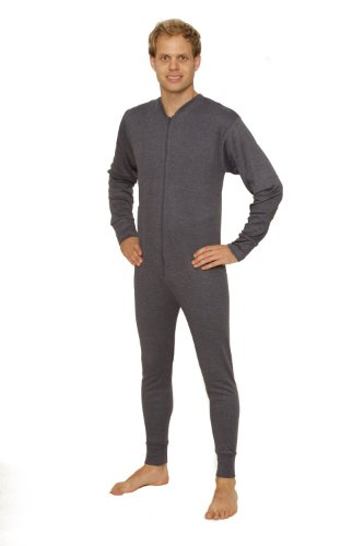Octave Mens Thermal Underwear Union Suit/Thermal Body Suit (Medium, Denim) ()