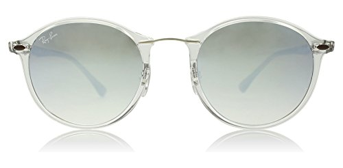Ray-Ban-Injected-Unisex-Non-Polarized-Gradient-Round-Sunglasses-Transparent-49-mm