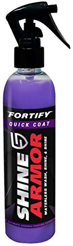 SHINE ARMOR Fortify Quick Coat - Ceramic Coating - Car Wax Spray - Waterless Car Wash & Wax - Hydrophobic Top Coat Polish & Polymer Paint Sealant Protection