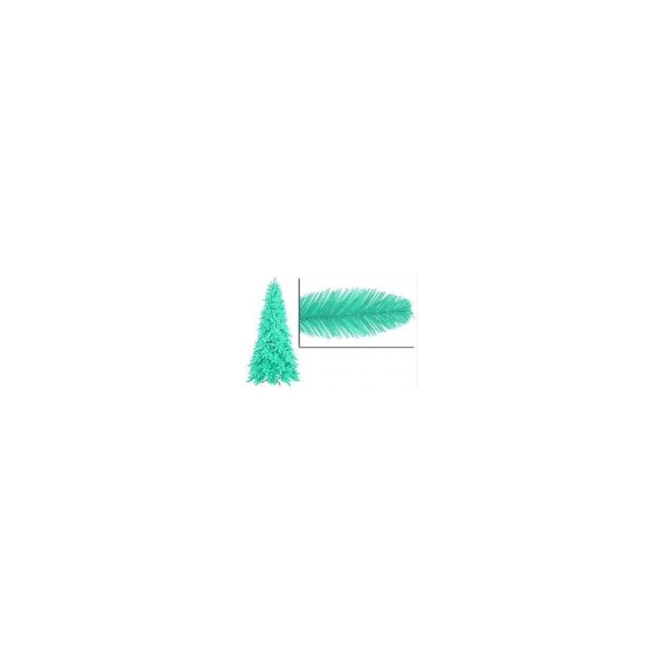 9 Pre Lit Slim Seafoam Green Ashley Spruce Christmas Tree  Clear & Green Lights