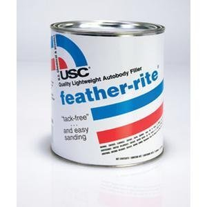U. S. Chemical & Plastics Feather-Rite Lightweight Autobody Filler, Gallon (USC-21330) Body Filler Gallon