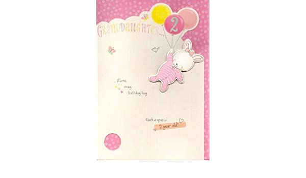 Amazon Hallmark Granddaughter 2nd Birthday Card Warm And Snug