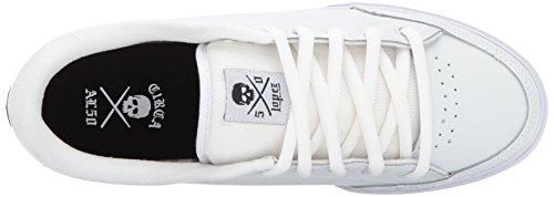 Blanco deportiva C1RCA Negro cuero Lopez50 unisex zapatilla de Y1wqPwf6