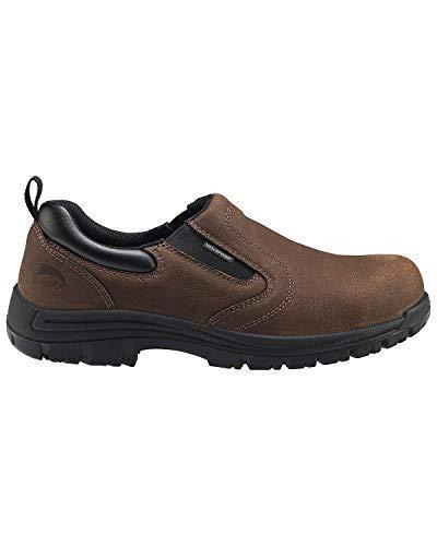 Avenger Men's Waterproof Oxford Work Shoes Composite Toe Brown 7 EE