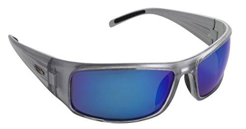 Sea Striker Thresher Polarized Sunglasses, Metal Frame/Silver Backspray, Blue Mirror - Striker Frame