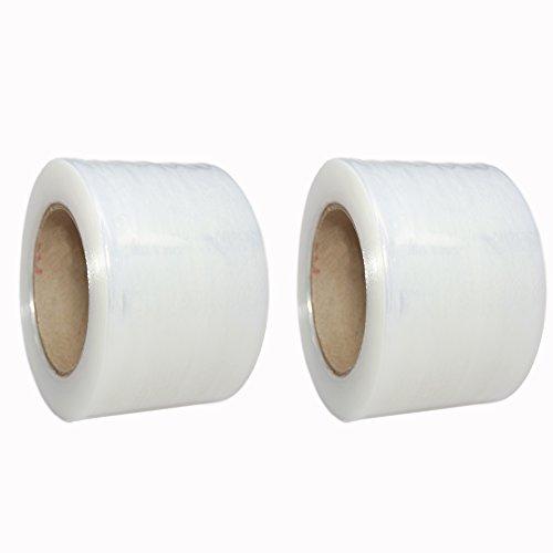 TotalPack Shrink Mini Wrap: Stretch Film Plastic Wrap 2 Pack - Industrial Strength Hand Stretch Wrap, 3