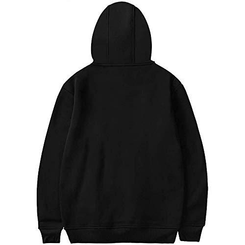 Tik Kasonj Unisexe Fit Noir 100 Pullover Capuche Coton Street Loose Élégant À Tok ZqAqt