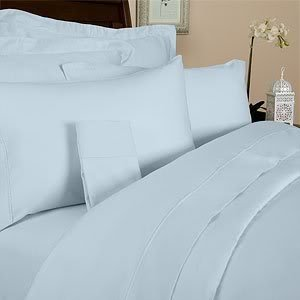 Amazon.com: 1000 Thread Count QUEEN size Egyptian DUVET COVER, SKY ... : pale blue quilt cover - Adamdwight.com