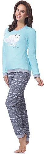 Cornette Pijama para mujer 671 2016 Turquesa (Fox2)