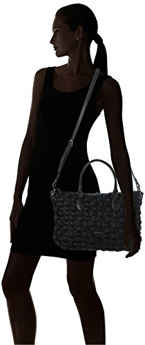 Liu Jo Damen Anger Shopper Crinkle Tote, Schwarz (Black), 15x26x41 cm