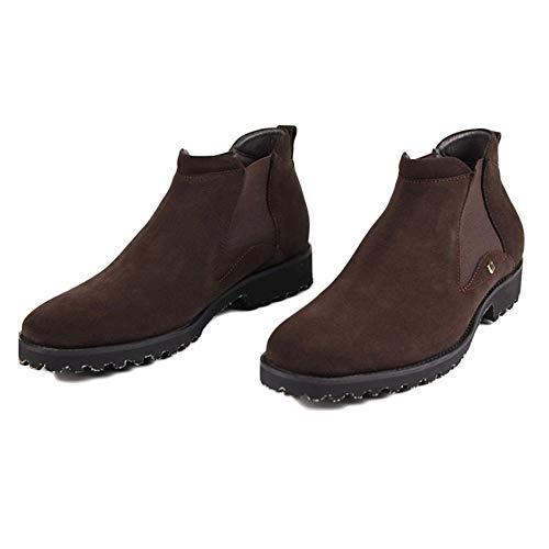 Opaca Stivali Brogue Desert Chelsea Boots in da Pelle Brown in Lavoro Pelle Formale Stivali Scarpe Uomo Classic di Alte Pelle qRwAa7R