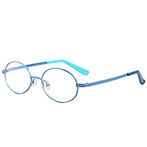 Fantia Lovely round frame Kids eyeglass 100%titanium Child eyewear (B)