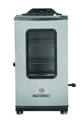 Masterbuilt MB20073919 Electric Smoker, Black/Stainless Steel (Masterbuilt Bluetooth Smart 30 Digital Electric Smoker)