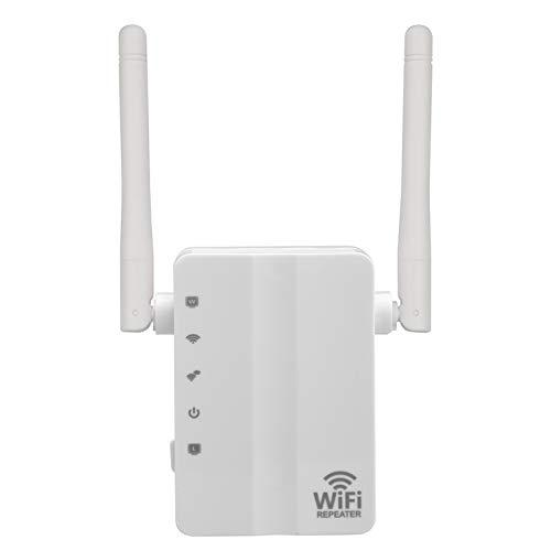 TOOGOO El mas N300 300 Mbps Mini WiFi Repetidor Router Punto de Acceso Extensor de Alcance de WiFi con 2 Antenas externas Proteccion WPS Enchufe de la UE ...