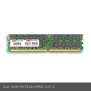 DMS Compatible/Replacement for Sun X5722A Blade T6300 Server Module 1GB DMS Certified Memory DDR2-533 (PC2-4200) 128x72 CL4 1.8v 240 Pin ECC/Reg. DIMM Single Rank- DMS