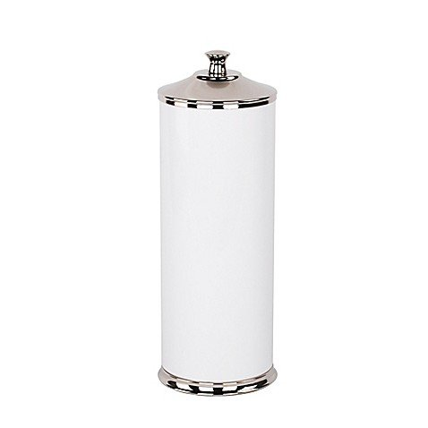 Alumiluxe Toilet Paper Reserve in White/Polished Nickel
