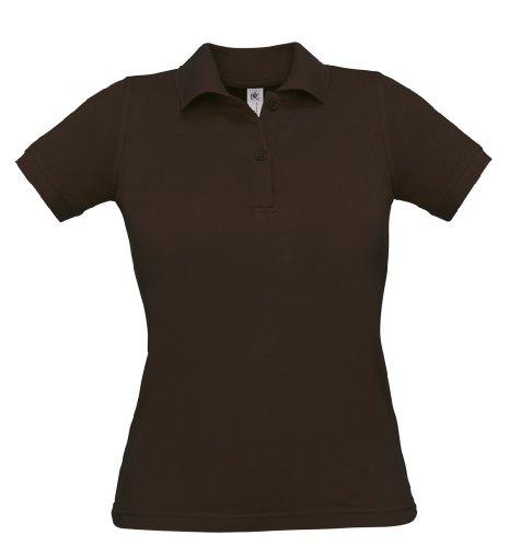 Safran Ladies Polo, Farbe:Brown;Größe:M