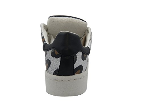 Happiness Gummisohle flexibler und Ledersohle Summer Silver Schuhe mit und Sneaker herausnehmbarer leichter donna 11001 5ZqxBUB