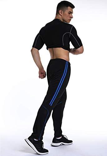 FITTOO Pantalones Deportivos para Hombre Mallas de Fitness Elásticos y Transpirables 5