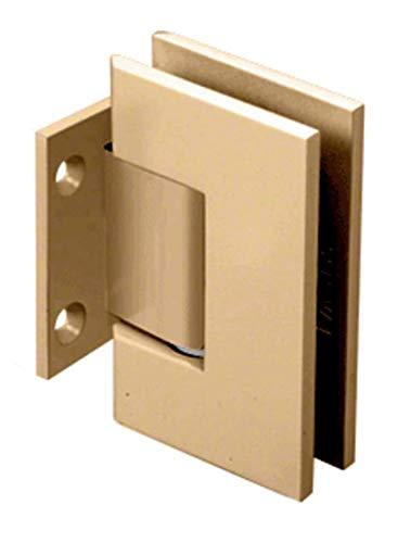 CRL Geneva Series Satin Brass Wall Mount Short Back Plate Hinge (Standard Model)