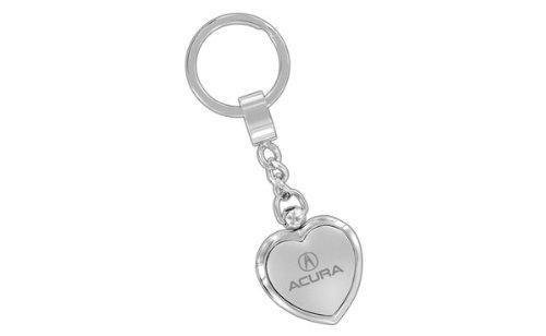 Acura Polished Metal Heart Key Chain Keychain Fob Ring