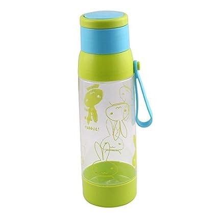eDealMax plástico Conejo Imprimir colador de té al aire Libre Deporte Botella de agua de la