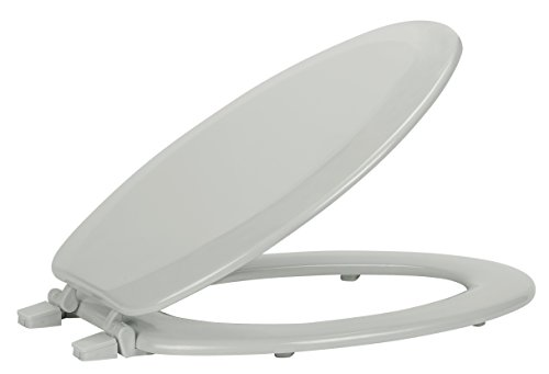 Ben & Jonah Fantasia 19 Inch Elongated Wood Toilet Seat-Silver Collection, Multicolor