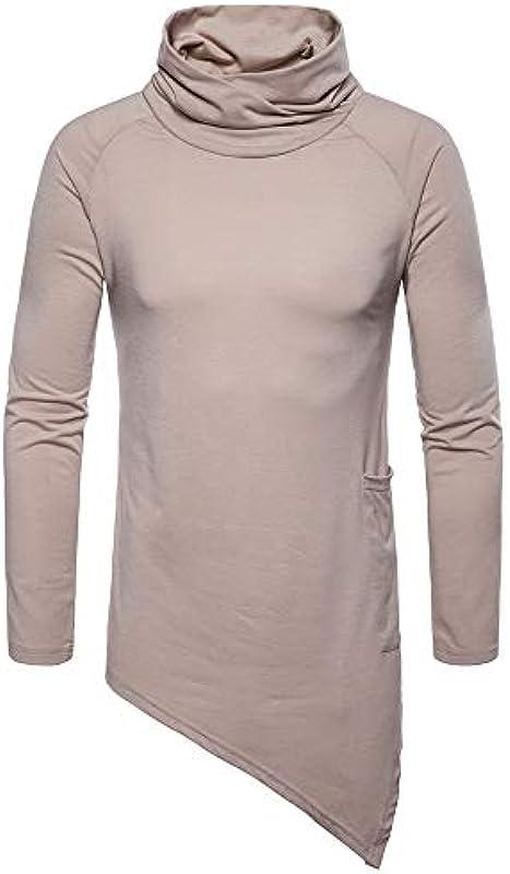 UJUNAOR męska bluza z kapturem, jesień, zima, męska, sweter slim, z wysokim zapięciem, do aktywności rekreacyjnych, z długim rękawem, bluza z kapturem: Odzież