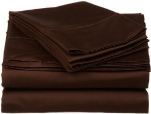 solid chocolate king size 4 piece bed sheet. Black Bedroom Furniture Sets. Home Design Ideas