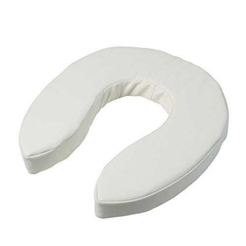 Cushion, Cushioned Toilet Seat, Padded Toilet Seat Cover, Vinyl, Easily Cleaned, 2 Inch ()