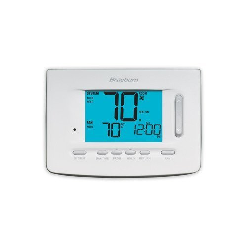 Braeburn 5220 Thermostat, Premier Series 5-2 Day Programmable/Non-Programmable, Up to 2 Heat/2 Cool Conventional & 3 Heat/2 Cool Heat Pump by Braeburn