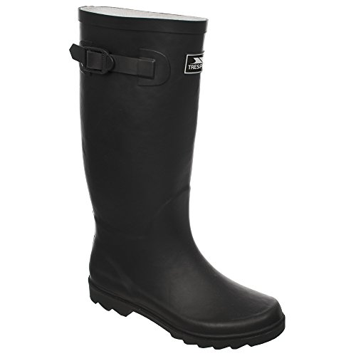 Trespass Mens Recon Wellington Bottes Noires