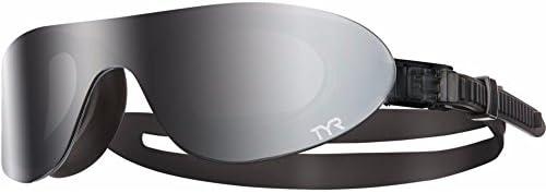 TYR Gafas de natación con superficie de espejo, color humo metálico