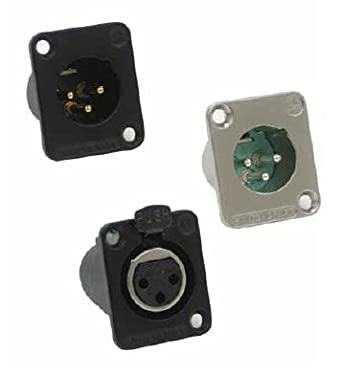 5 Items TA5FS15 Conn Mini XLR Connector F 5 POS Crimp ST Cable Mount 5 Terminal 1 Port