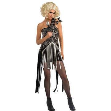 Lady Gaga Star Dress Adult Costume Size 4-6 - Gaga Costume