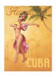 Cuba, Art Poster by David Marrocco