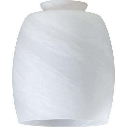 Faux Alabaster Barrel Glass Shade for Ceiling Fan Light - Faux Alabaster