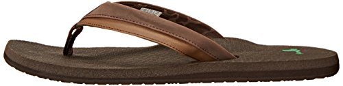 Dark Sanuk Cozy Zehentrenner Light Beer Brown EqrIrZ