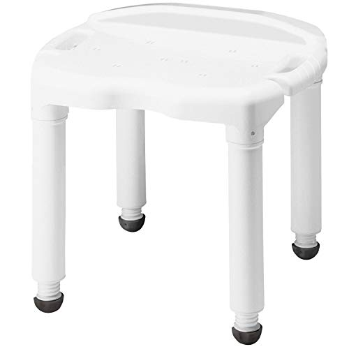 Carex Universal Bath Seat and Shower Chair - With Support Up To 400 Pounds - Adjustable Height Shower - Table Corner Extended Right