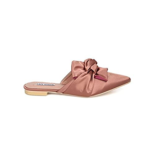 8520a1792f8e lovely Women Knotted Flat Mule - Bow Slip On Sandal - Pointy Toe Slide -  HK10