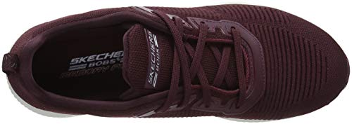 Burgundy Glam Chaussures Burgundy Bobs Femme de Rouge Skechers Total Fitness Squad Hw1qxAfO