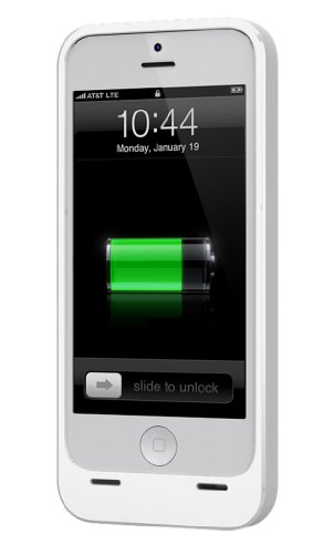 ERG DX-05-2300W Power DX External Protective Battery Case for iPhone 5 Retail Packaging, White