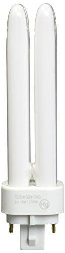 TCP Fluorescent Quad Tube, 13W (875 Lumens), Soft White (2700K), 4-Pin (G24q-1 base) Quad Tube PL Lamp