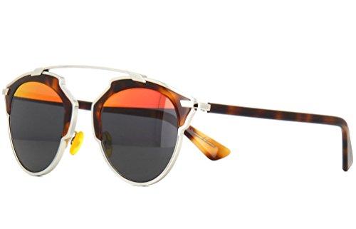 Dior So Real Sunglasses 48 mm Havana/Grey Red Mirror - Red Sunglasses Dior
