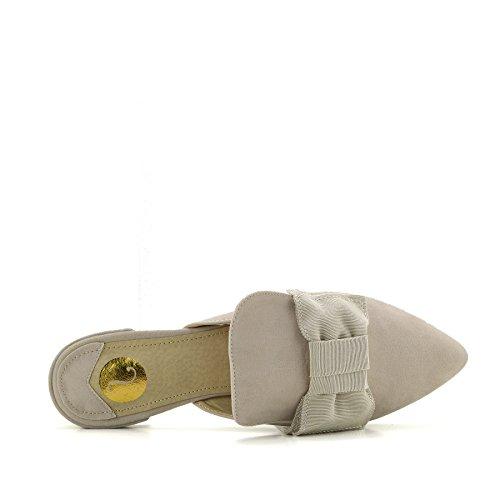 Piatta Pantofole Nude Di Slipper Velluto Kick Scarpe Donna Giallo Footwear Punta Muli A Punto Casual wnUU7Oq6