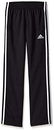 adidas Boys' Big Tricot Pant, Iconic Adi Black, L (14/16)