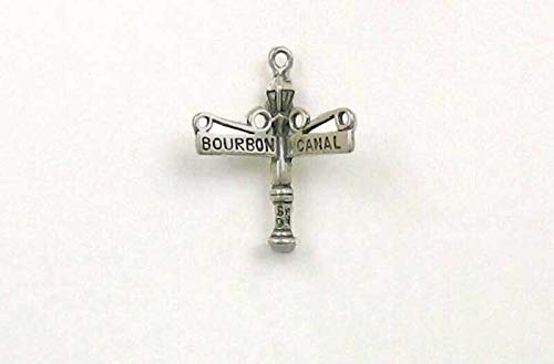 (Pendant Jewelry Making/Chain Pendant/Bracelet Pendant Sterling Silver Bourbon & Canal Street Sign Charm)
